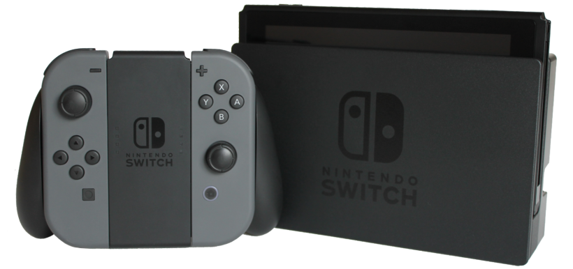 Pictured is an image of the Nintendo Switch gaming console.