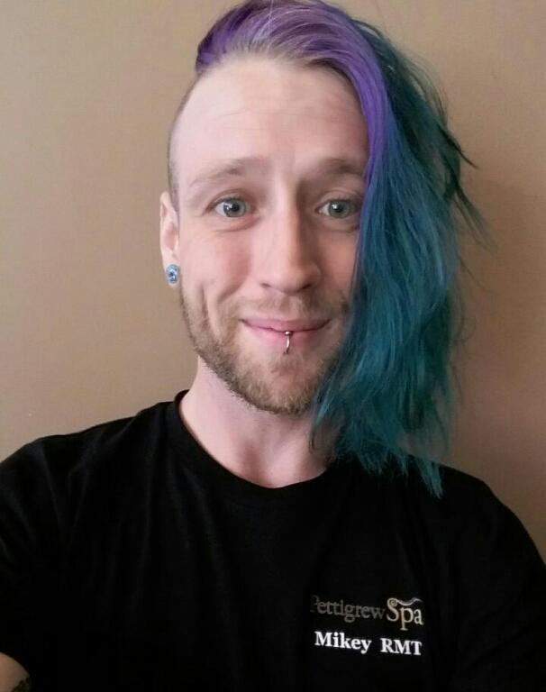 Mikey Wells, an RMT for Pettigrew Health Spa