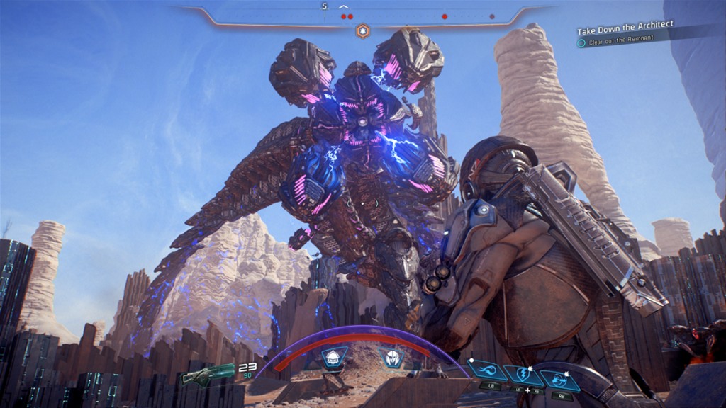 Mass Effect Andromeda combat with architect