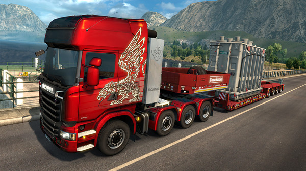 One of the big rigs in Euro Truck Simulator 2