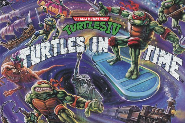 Ninja Turtles Turtles in Time Cover Art