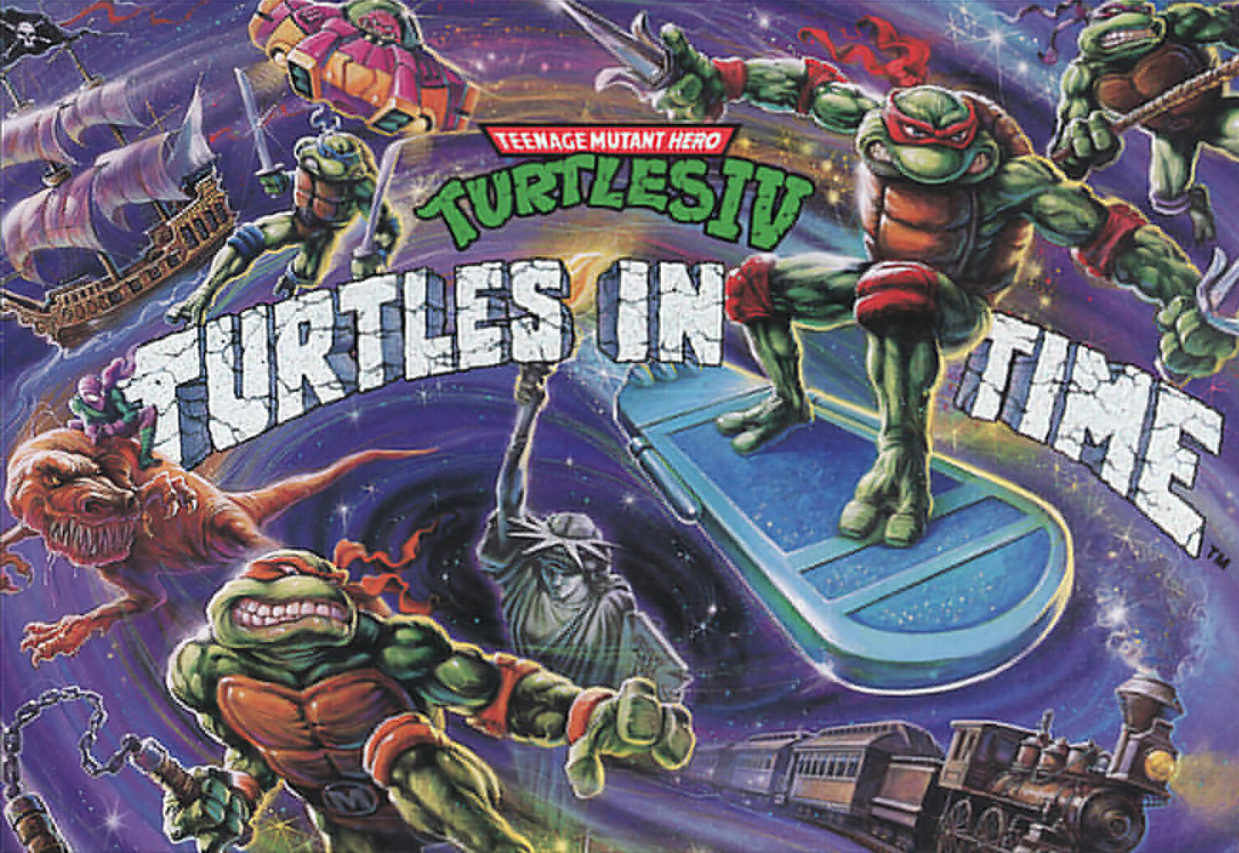 Ninja Turtles Turtles in Time Cover Art