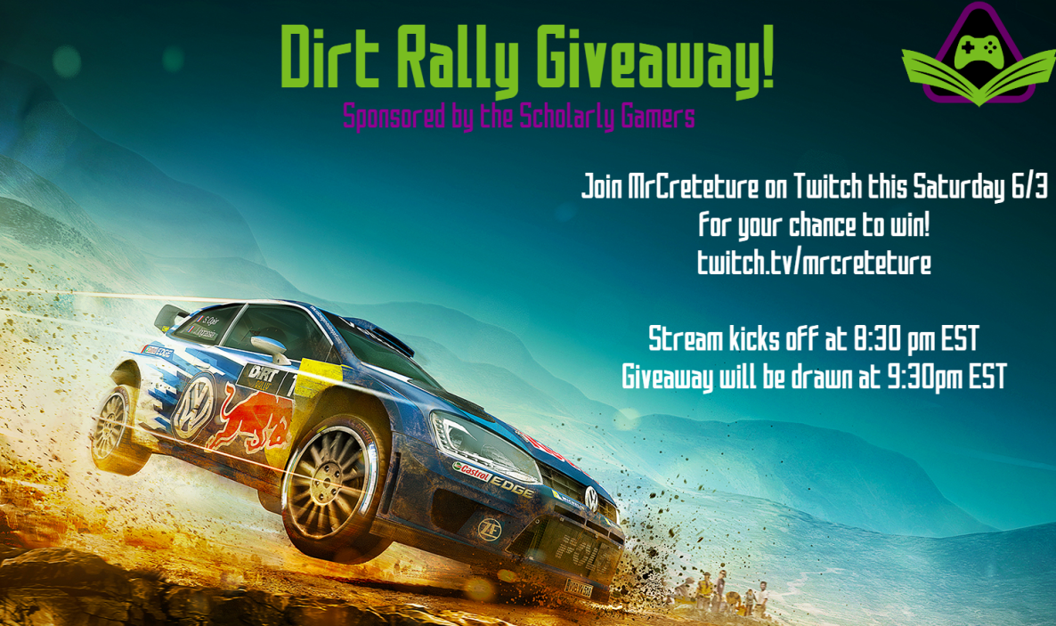DiRT Rally Giveaway Poster