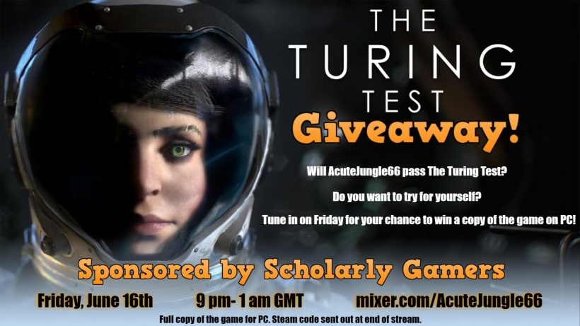 The Turing Test Giveaway Poster