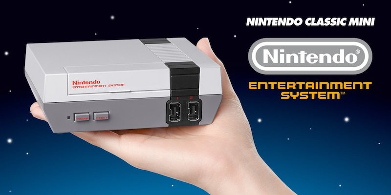 The Nintendo Classic Edition being held