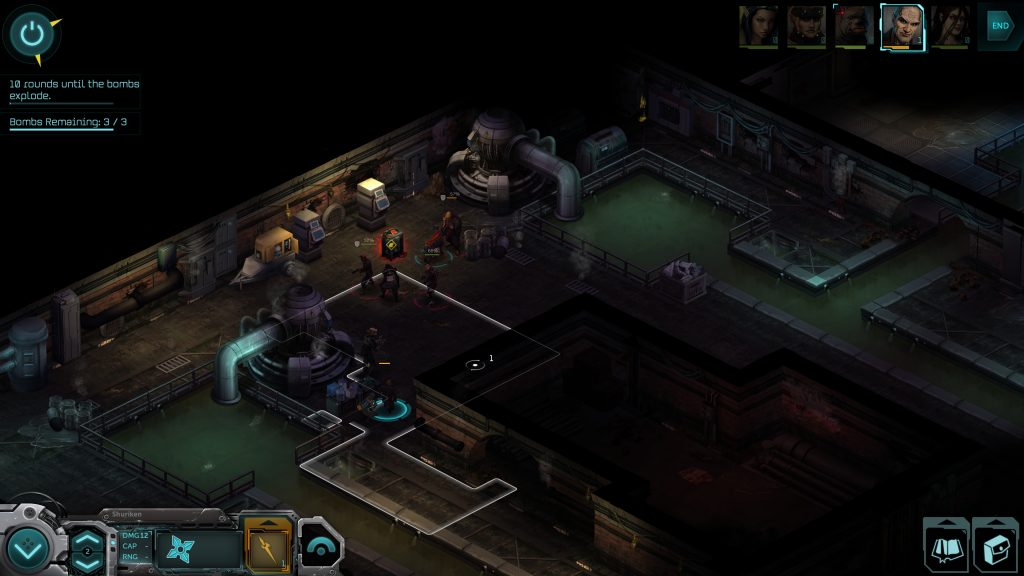 The combat in Shadowrun Returns is isometric and turn based