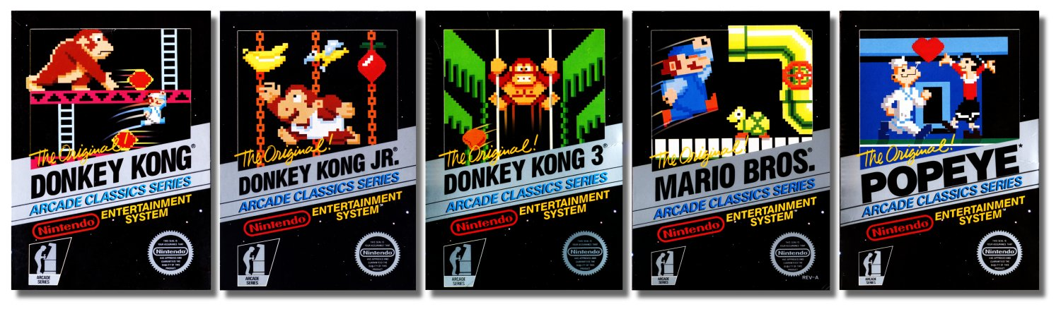Each of these games were just a few years old when Nintendo called them classics.