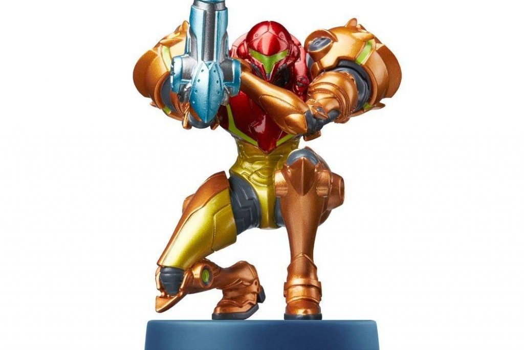 The new Samus Aran amiibo for the Nintendo 3DS Metroid: Samus Returns