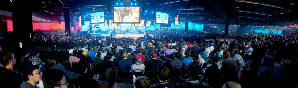 Olympic esports can be several games, such as Overwatch seen here during the 2016 BlizzCon World Cup