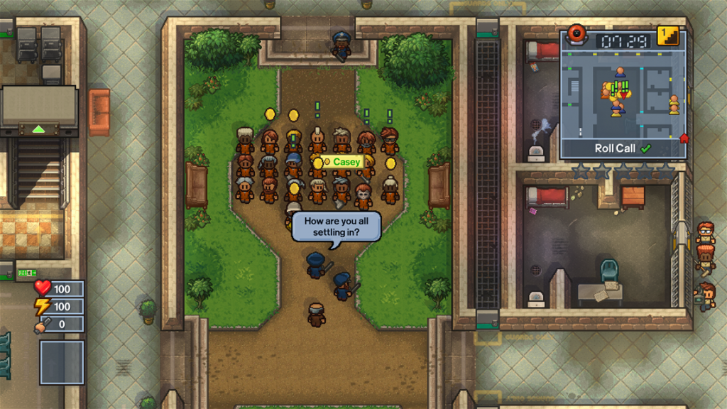 The Escapists Center Perks 2.0 Roll Call