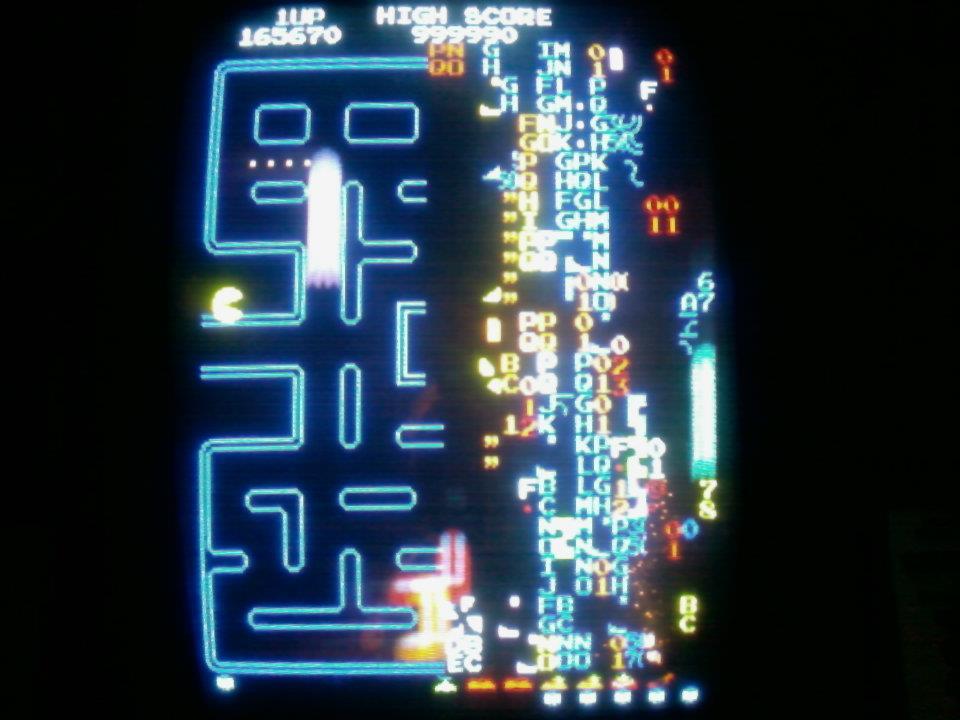 Bill Carlton Score Split Screen Pac Man