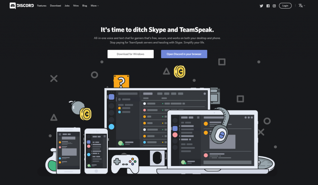 Discord Homepage