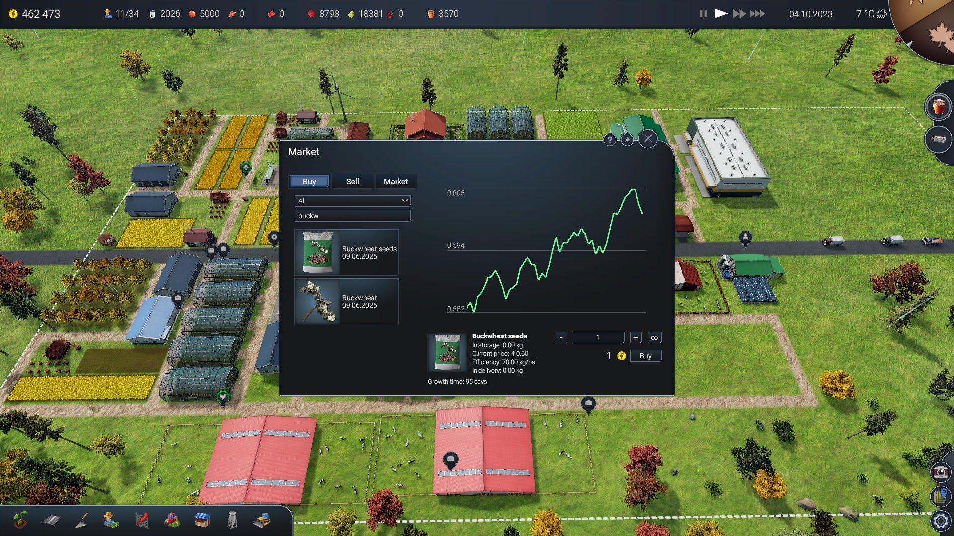 Farm Manager 2018 Menu and UI Design