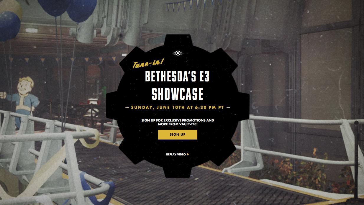 Fallout 76 Bethesda E3 Showcase