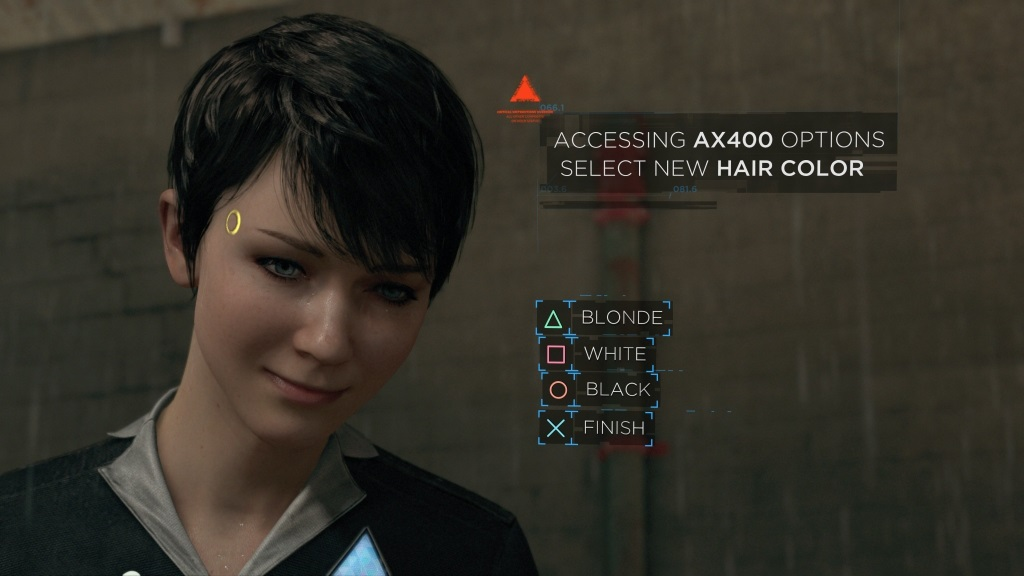 Detroit Become Human Hair Options