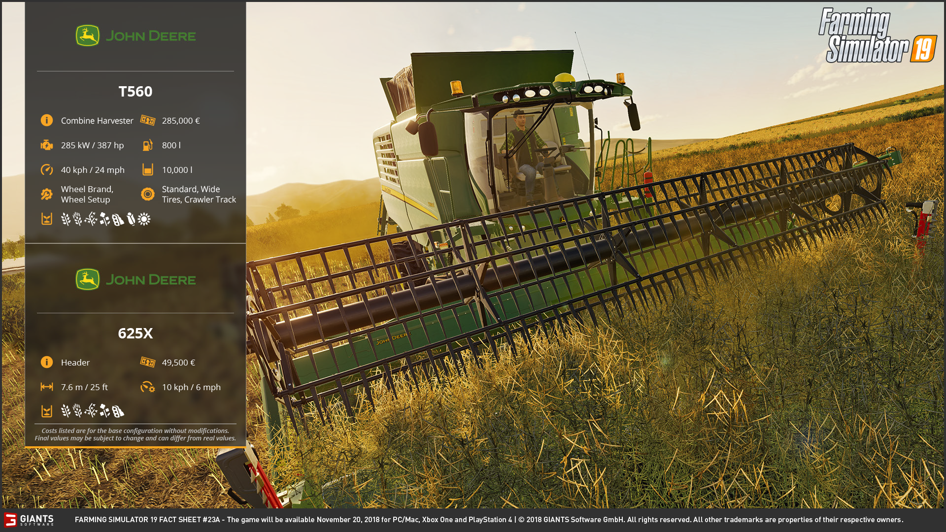 Farming Simulator 19: Fact Sheets #23, 24, 25 & 26