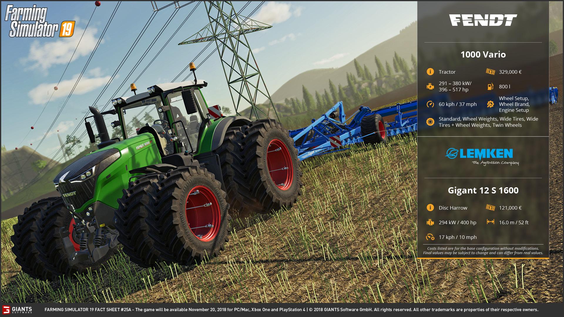 Farming Simulator 19: Fact Sheets #23, 24, 25 & 26