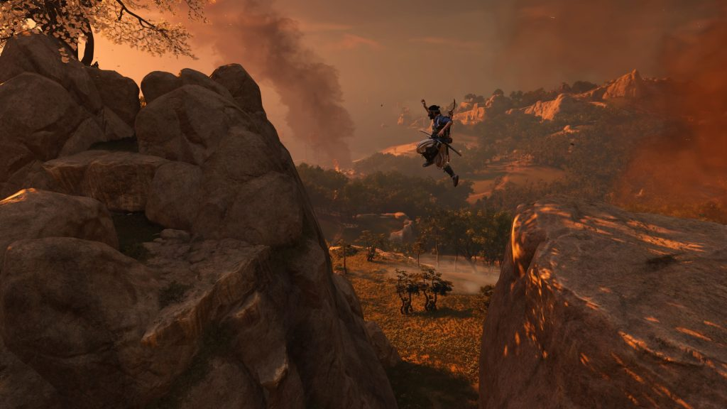 Ghost of Tsushima Parkour